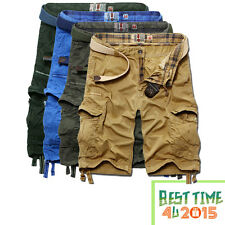 Casual Mens Summer Cotton Army Combat Work Cargo Shorts Pants 5835 Trousers 1/2