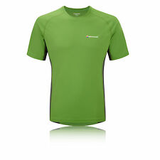 Montane Sonic Mens Green Breathable Trail Training Running T Shirt Tee Top