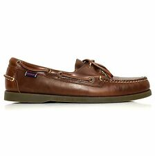 Sebago Docksides Men's Premium Leather Boat Shoes Style B72743 Brown Oiled Waxy