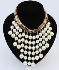Hot! Fashion jewelry beautiful Occident Style multilayer pearl charms necklace