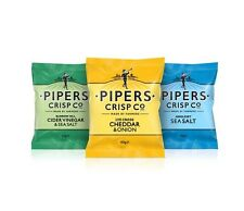 Pipers Crisps Snacks 40g Bags Quantity 6 to Full Box - Choose your Flavour