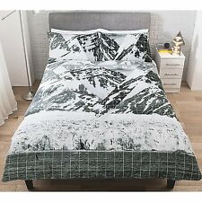 Stylish George Home Limitless Mountain Peaks DOUBLE Duvet Cover + 2 Pillowcase