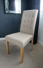 x2 New beige cream Buttoned Back Tufted fabric Dining Chairs