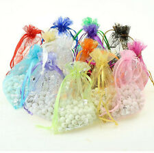 New 100Pcs Organza Butterfly Gift Bags Wedding Favour Bags Jewellery Pouches