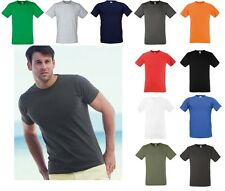 5 Pack Fruit Of The Loom Fitted Value-weight T-Shirt Tee Bulk Buy Wholesale Lot
