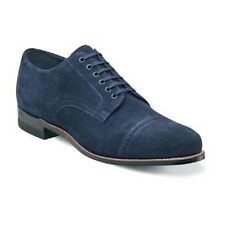 New Madison  Stacy Adams Mens Shoes Blue  Suede Cap toe oxford Dressy 00066-461