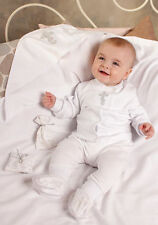 Christening Baby Boy Set White Cotton Baptism Outfit Newborn Baby Boy Clothes