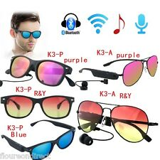 Wireless Bluetooth Polarized Sport Sunglasses Headset Call for Smartphone iPhone