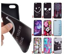 For iPhone Samsung Black Bumper Rubber Soft TPU Back Protective Case Cover Skin