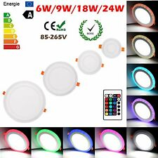 White RGB Dual Color LED Light LED Ceiling Recessed Panel Downlight Spot Lamp LW