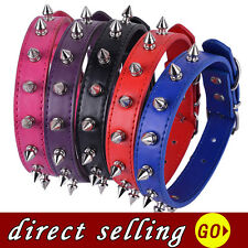 Spiked Dog Collar Red Black Purple Leather Collar Small Pet Products For Dogs