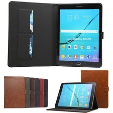 Flip Premium Leather Case Card Wallet Cover For Samsung Galaxy series Tablets PC