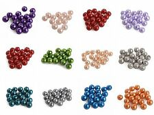 4/ 6/ 8/ 10/ 12/ 14/ 16mm High Quality Czech Glass Pearl Beads Round Loose Beads