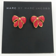 Marc By Marc Jacobs Cute Enamel Bow Gold Tone Stud Earrings,black or red