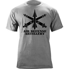 US Army Air Defense Branch Insignia Crossed Cannons Veteran Graphic T-Shirt