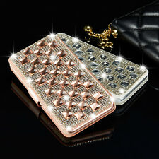 Luxury Bling Crystal Diamond Wallet Flip Case Cover For Apple iPhone & Samsung