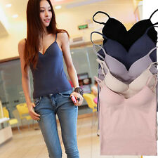 Summer Vest Padded Ladies Women Camisole Sexy Strap Casual Sleeveless Camisole