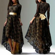 Women's Long Sleeve Cocktail Maxi Party Dress Formal Irregular Dress L-XXXL UK