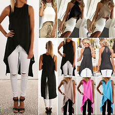 Fashion Womens Ladies Casual Sleeveless Vest Blouse Summer Shirt Crop Tops Dress