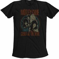 Motley Crue T-shirt - Motley Crue Shout at the Devil World Tour 1983. Men's Blac