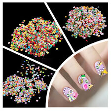 1000PCS 3D DIY Nail Art Tips Fimo Decoration Slices Polymer Clay Stickers New S5