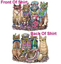 Scuba & Snorkel Cats Shirt,Diving Kittys ~ Snorkels,Tanks,Goggles,Flippers Tee