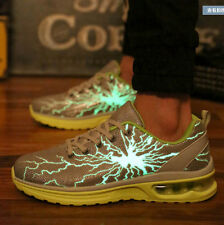 Mens Lace Up Luminous Causal Sports Sneakers Flat Shoes Breathable Athletic k99