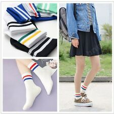 1 Pairs Stripe Middle Tube Sports Socks Cotton Leisure For Boys Girls Foot Feels