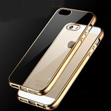 Clear Chrome Plate Transparent Soft Back Case Cover Skin for New iPhone SE 5 5s
