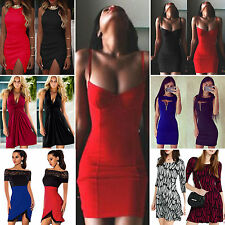 Women Bodycon Slim Mini Dress Clubwear Evening Party Midi Tunic Dresses Cocktail