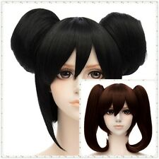 Cosplay Brown / Black Long + Clip On Ponytails Women Lolita Party Full Hair Wig