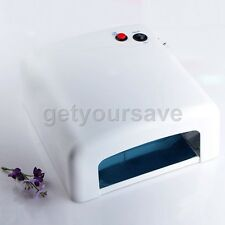 36W Nail Art UV Salon Gel Curing Tube Light Dryer Machine 4 X 9W Lamp 220V