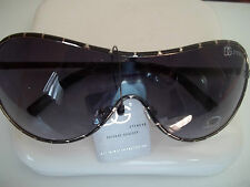 DG BLACK/WHITE SHIELD STYLE CELEBRITY CHIC FASHION SUNGLASSES BRAND NEW
