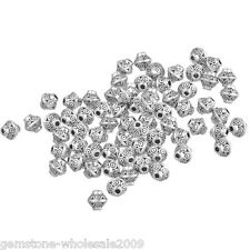 Wholesale W09 Silver Tone Bicone Spacer Beads 6x6mm