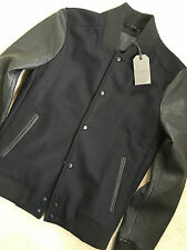 "ALL SAINTS MEN'S BLACK ""MILO"" LEATHER BOMBER JACKET COAT - XS S XXL - NEW TAGS"