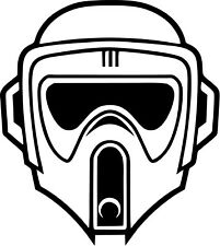 Star Wars - Biker Scout - Car Window Laptop Vinyl Decal Sticker