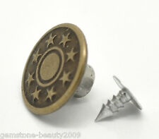 "Wholesale Jewelry Jean Tack Buttons Bronze Tone  17x8mm(5/8""x3/8"")"