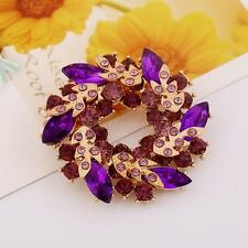 Women Redbud Rhinestone/Crystal Brooch Wedding Brooch Pin Bouquet Pin Jewelry