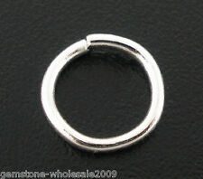 Wholesale Mixed Lots Silver Plated Open Jump Rings 8x1mm Findings