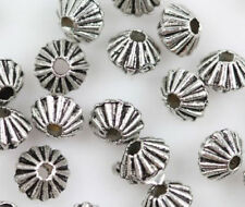 Wholesale 100/200pc 4x5mm Silver Spacer Charm Beads Jewelry finding bead