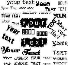 """7"""" CUSTOM Sticker Decal Choose Your Own Text Vinyl Decal Personalised Message"""