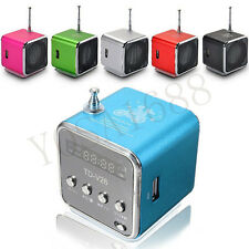 1PC Mini USB Micro SD TF Speaker Music Player Portable FM Radio Stereo PC mp3