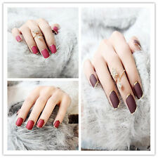 24pcs Bride False Artificial Fake Nails Tips French Style Designed Nails