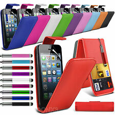 Top Flip PU Leather Phone Case Skin Cover+Film+Pen for Apple iPhone SE 5s 5