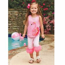 Size 4T NWT Mud Pie Flamingo Tunic & Capri Legging Set
