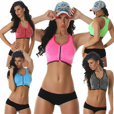 Women's Sports Bra Fitness Top Push Up Paddings S 32 34 36 Pilates Yoga Work Out