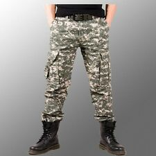 Mens Fashion Combat Military camouflage Army Camo Cargo Pants Casual Trousers