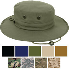 Adjustable Wide Brim Boonie Hat Fishing Camping Military Hunting Hat