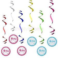 6pcs Baby Shower Home Hanging Swirls Decorations for Birthday Feast Supplies DIY