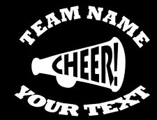 Personalized CHEERLEADING Decal - (C) Custom Vinyl Bumper Sticker Car Window